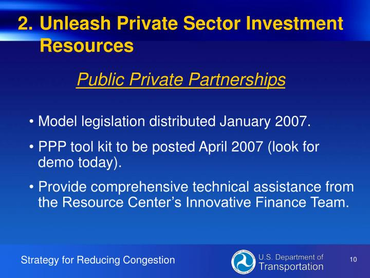 Unleash Private Sector Investment