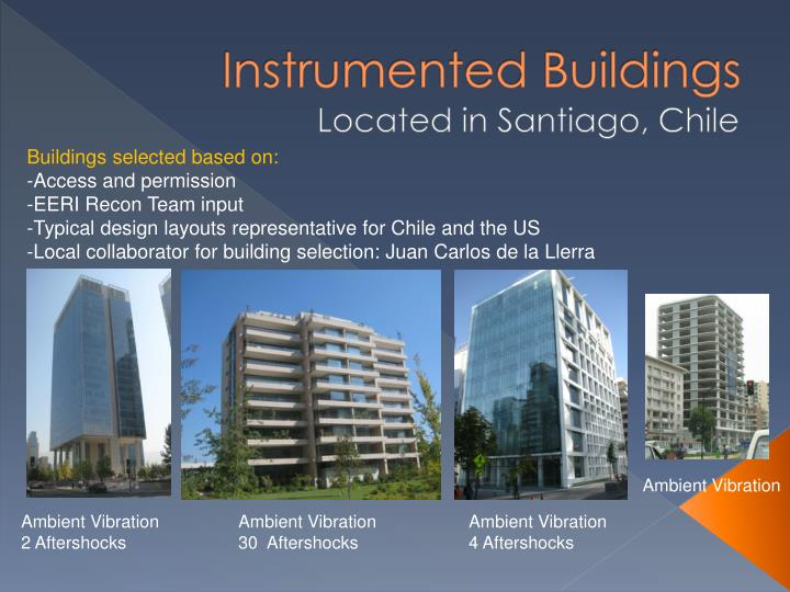 Instrumented Buildings
