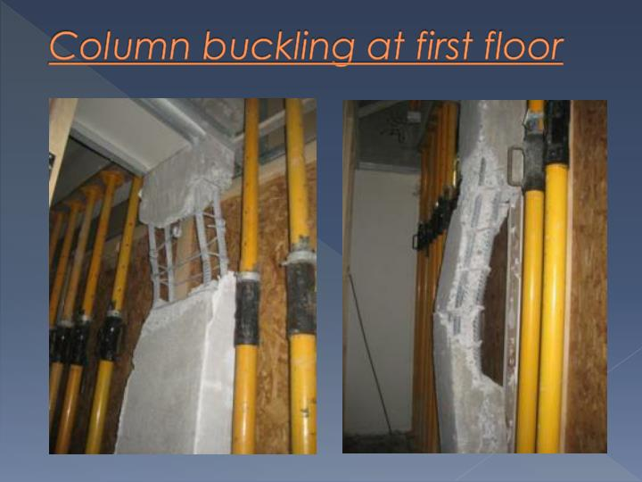 Column buckling at first floor
