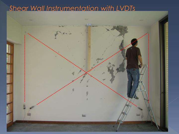 Shear Wall Instrumentation with LVDTs