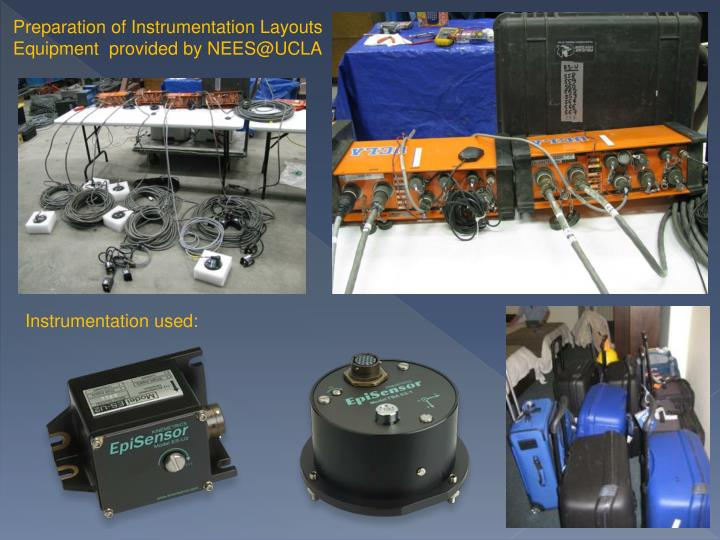 Preparation of Instrumentation Layouts