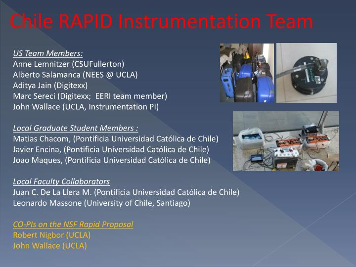 Chile RAPID Instrumentation