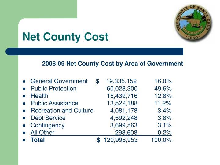 Net County Cost