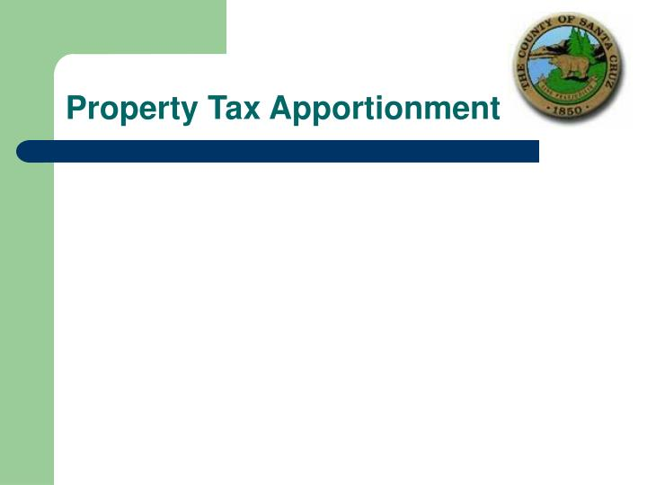 Property Tax Apportionment
