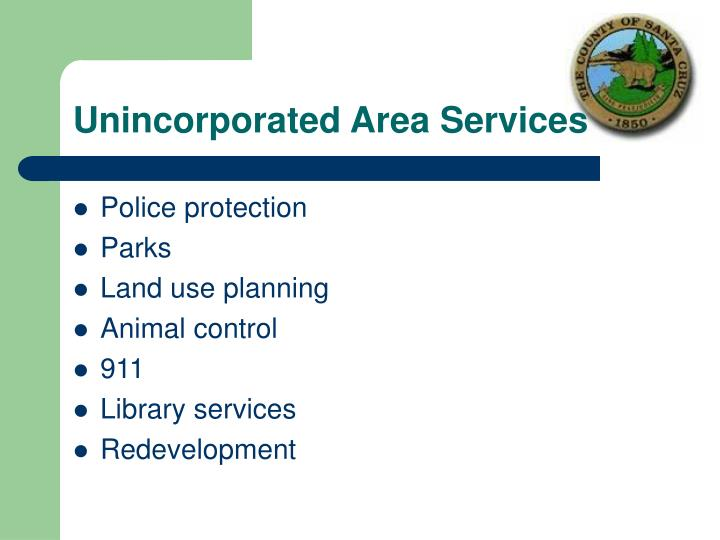 Unincorporated Area Services