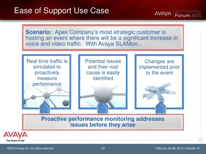 Ease of Support Use Case