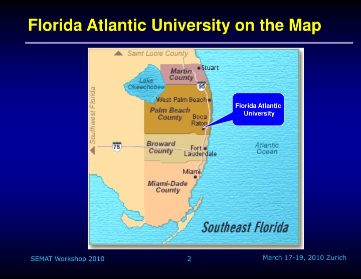 Florida Atlantic University on the Map