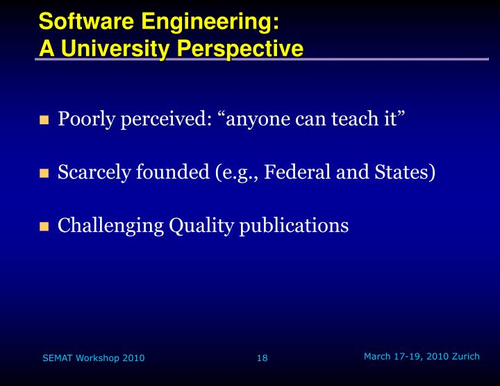 Software Engineering: