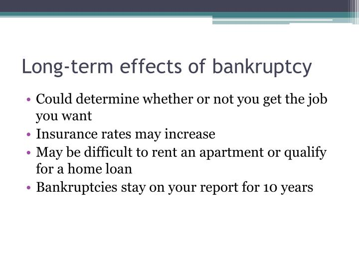 Long-term effects of bankruptcy