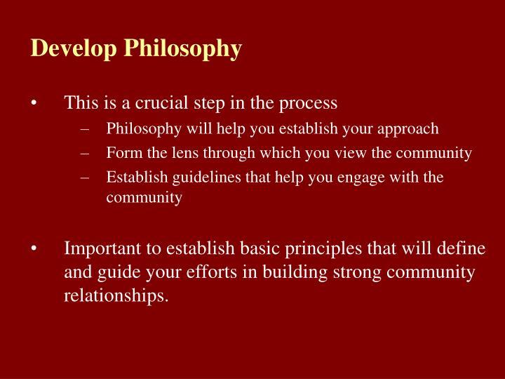 Develop Philosophy