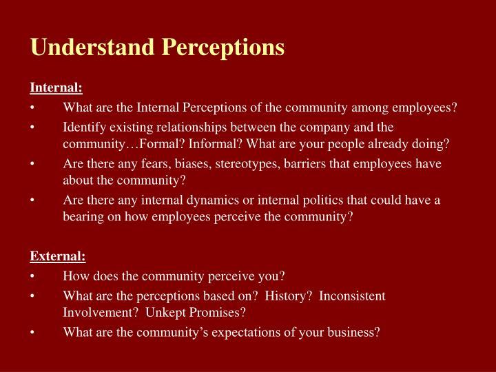 Understand Perceptions