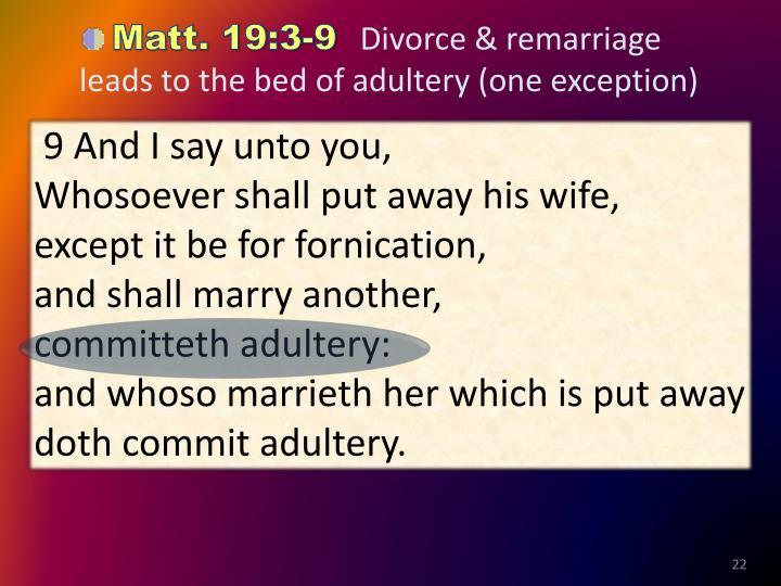 Matt. 19:3-9