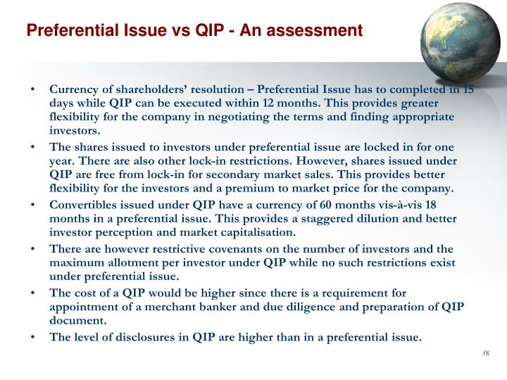 Preferential Issue vs QIP - An assessment