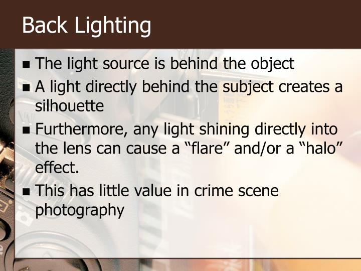 Back Lighting