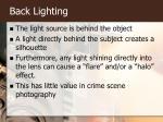 back lighting
