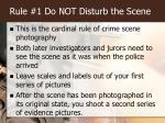 rule 1 do not disturb the scene