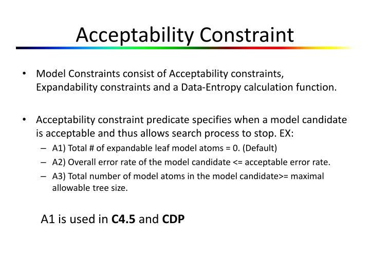 Acceptability Constraint