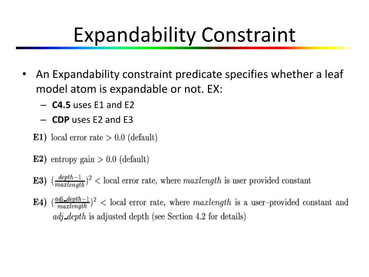 Expandability Constraint