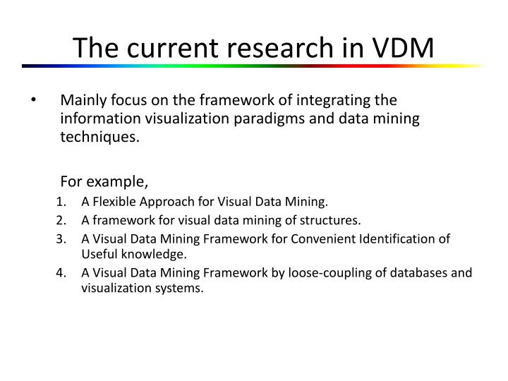 The current research in VDM