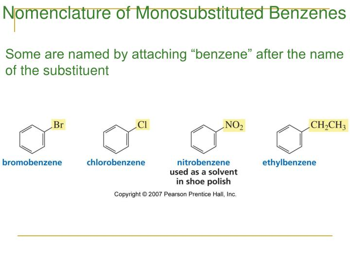 Nomenclature of Monosubstituted Benzenes
