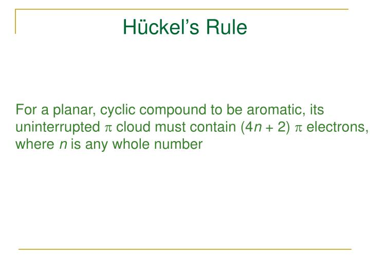 Hückel's Rule
