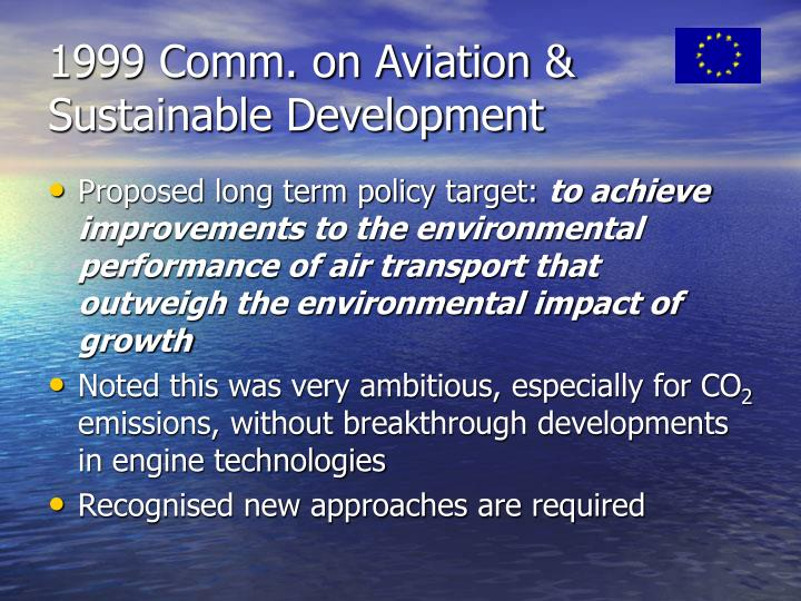 1999 Comm. on Aviation &  Sustainable Development
