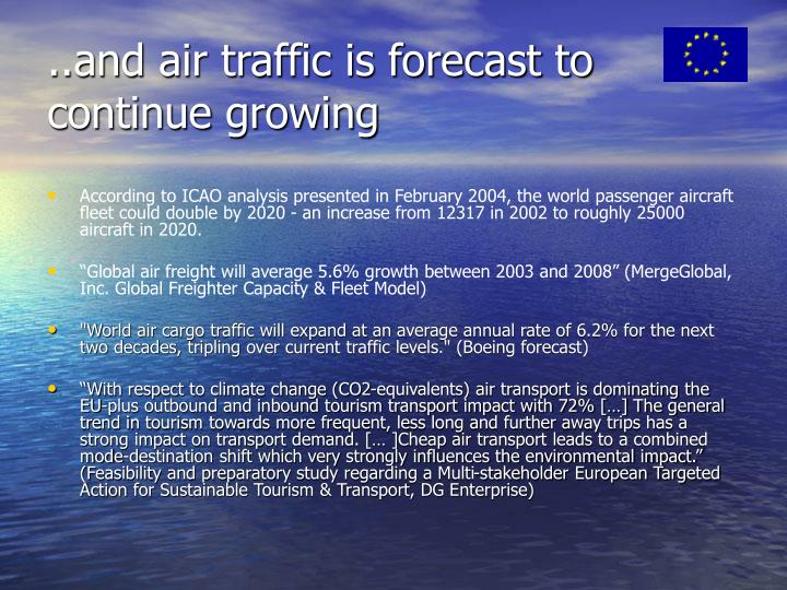 ..and air traffic is forecast to continue growing