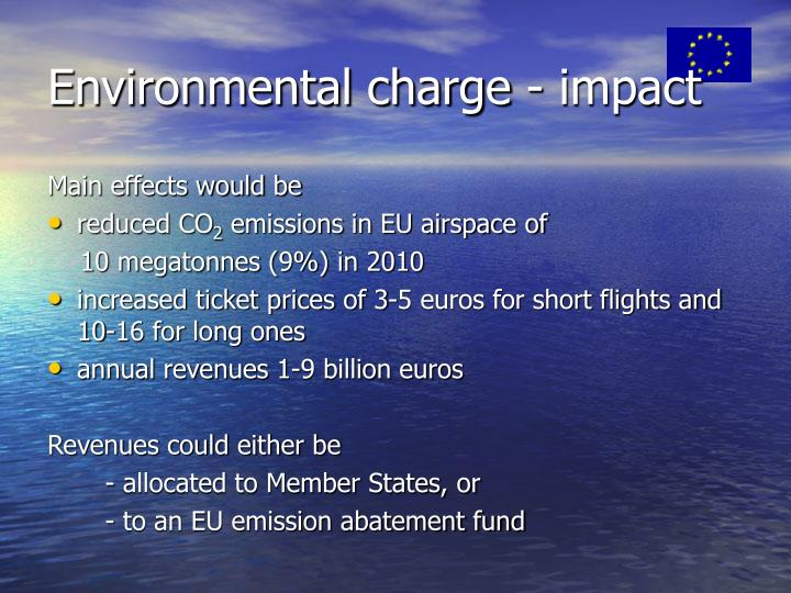 Environmental charge - impact