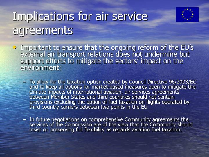 Implications for air service agreements