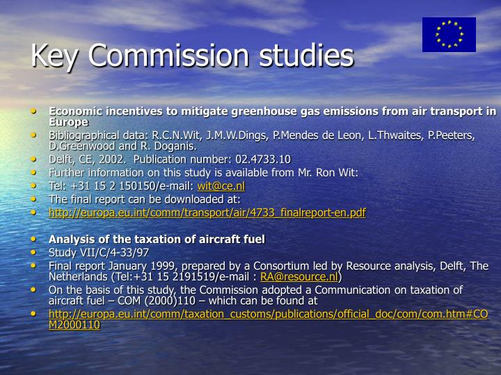 Key Commission studies
