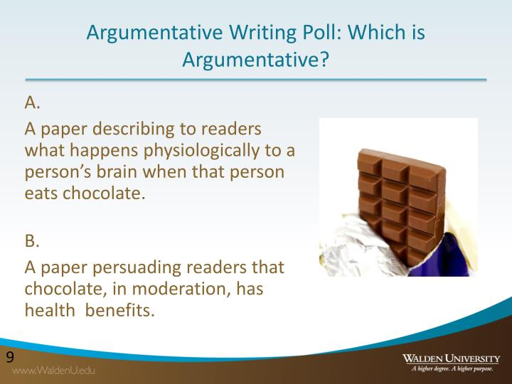 Argumentative Writing Poll: Which is Argumentative?