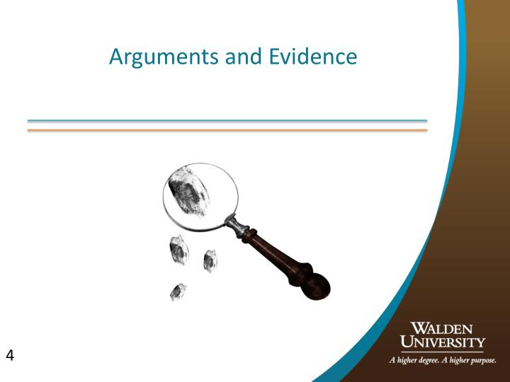 Arguments and Evidence