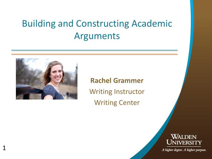 Building and constructing academic arguments