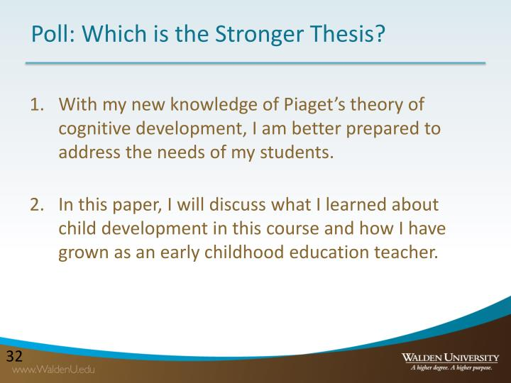 Poll: Which is the Stronger Thesis?