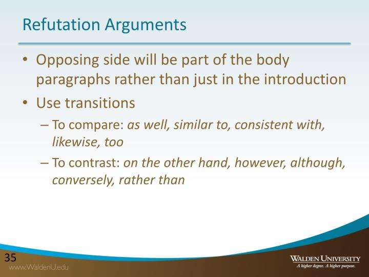 Refutation Arguments