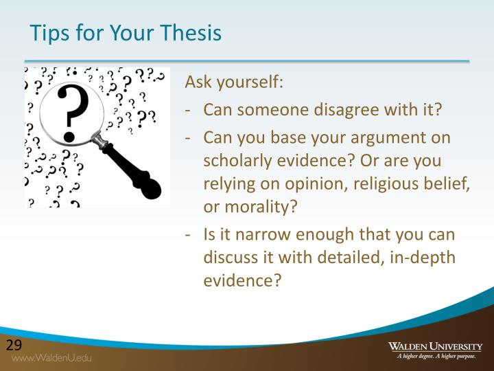 Tips for Your Thesis