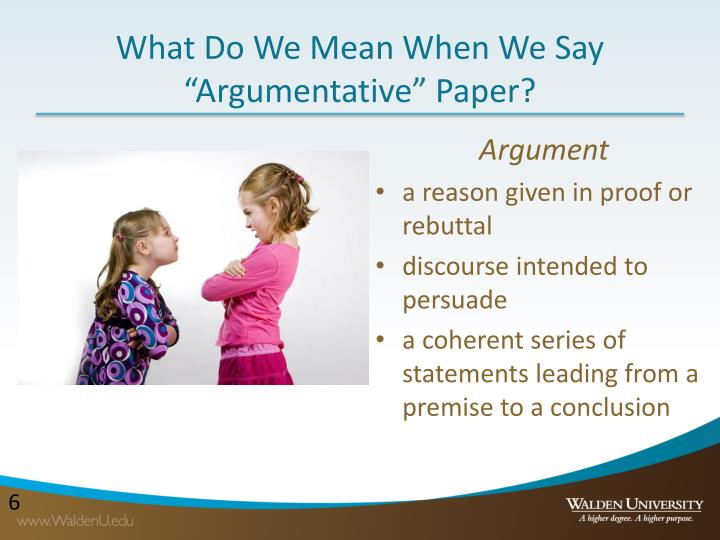 "What Do We Mean When We Say ""Argumentative"" Paper?"