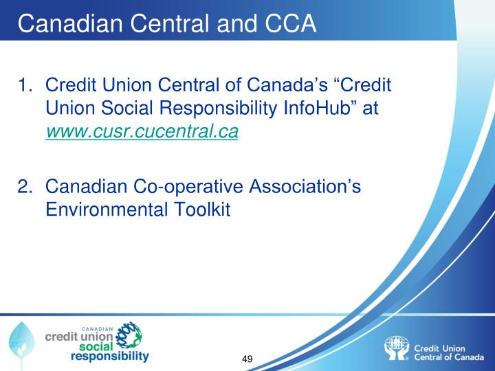 Canadian Central and CCA