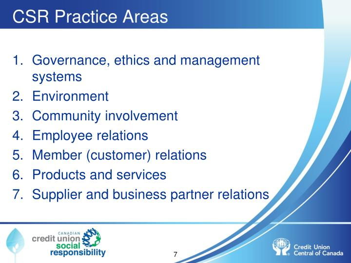 CSR Practice Areas