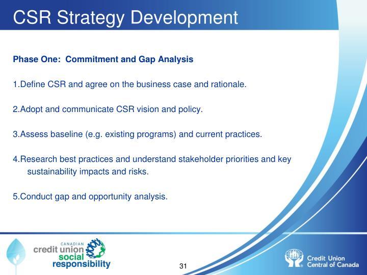 CSR Strategy Development