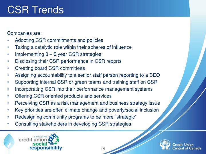 CSR Trends