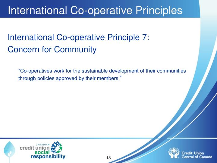 International Co-operative Principles