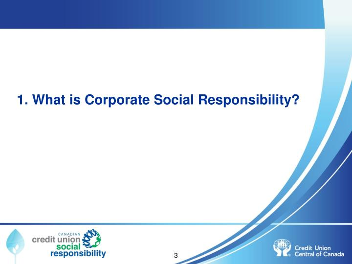 1. What is Corporate Social Responsibility?
