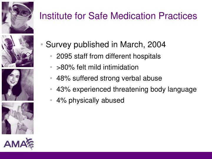 Institute for Safe Medication Practices