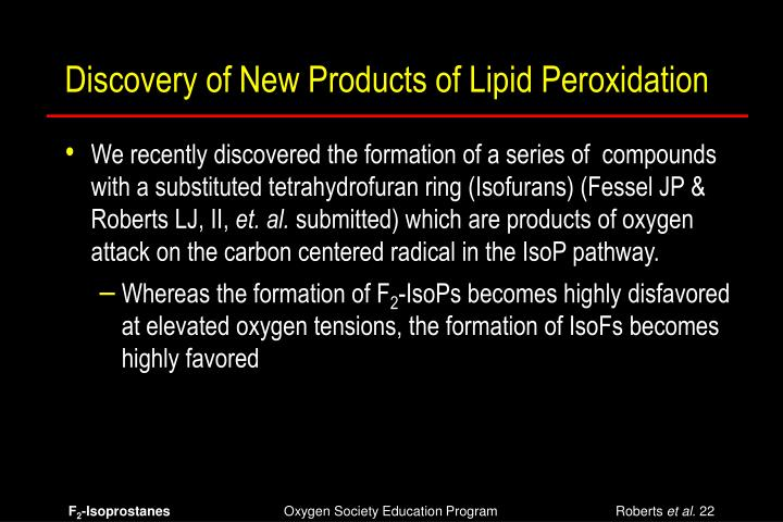Discovery of New Products of Lipid Peroxidation