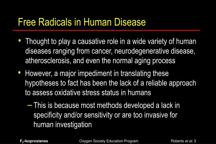 Free Radicals in Human Disease