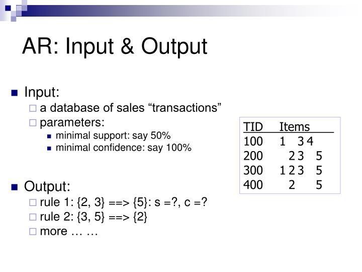 AR: Input & Output