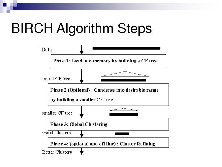 BIRCH Algorithm Steps