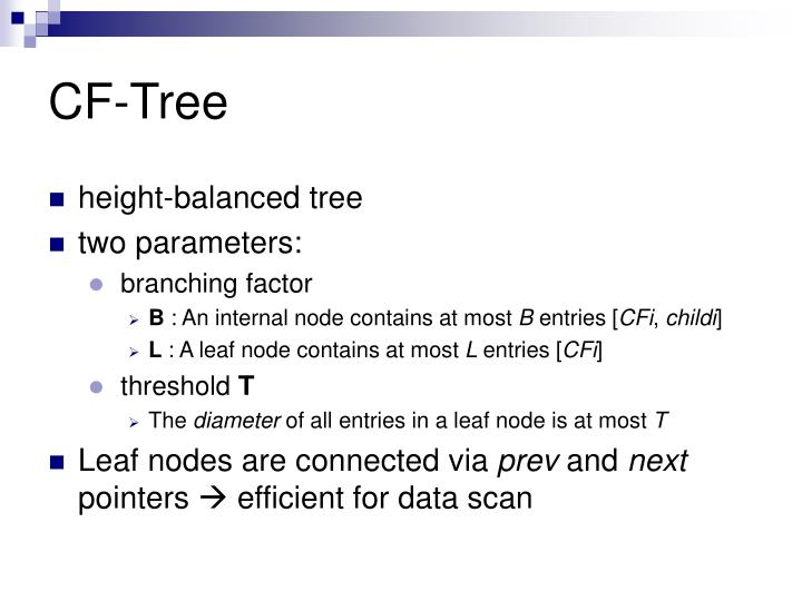 CF-Tree
