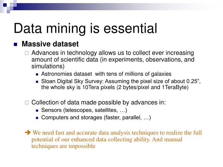 Data mining is essential